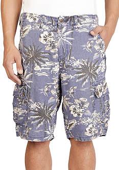 Lucky Brand Floral Linen Cargo Shorts