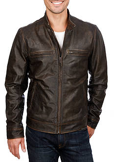 Lucky Brand Bonneville Icon Leather Jacket