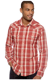 Lucky Brand Sonoma Plaid Western Shirt