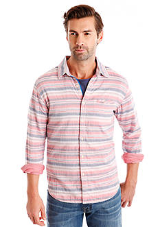 Lucky Brand Baja Stripe One Pocket Shirt