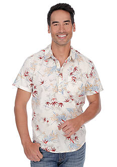 Lucky Brand Short Sleeve Lotus Pullover Shirt