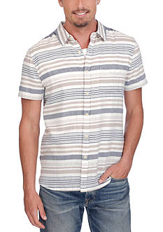 Lucky Brand Short Sleeve Horizontal Stripe Shirt