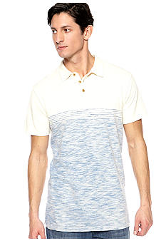 Lucky Brand Striped Slub Pique Polo