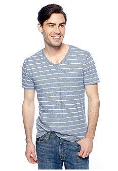Lucky Brand Stripe V-Neck Tee