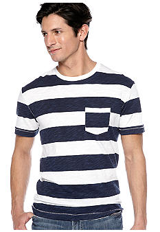 Lucky Brand Printed Stripe Shirt