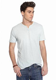 Lucky Brand Short Sleeve Solid Northshore Notch Neck Shirt