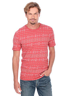 Lucky Brand Short Sleeve Jacquard Neppy Crew Neck Shirt