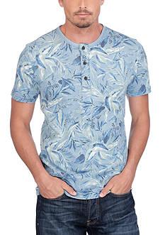 Lucky Brand Floral Print Henley Shirt