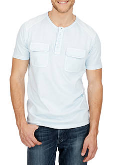 Lucky Brand Short Sleeve Vintage Wash Henley Shirt