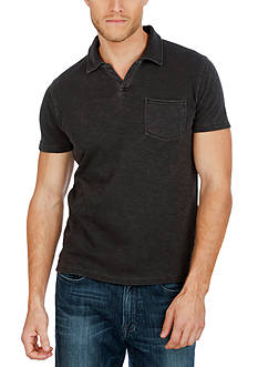 Lucky Brand Solid Notch Polo Shirt