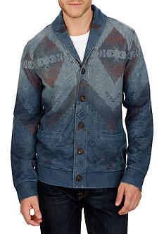 Lucky Brand Blanket Print Shawl Collar Cardigan