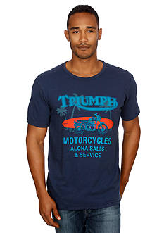 Lucky Brand Triumph Motorcycles Graphic Tee