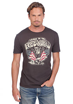 Lucky Brand Short Sleeve Eagle Living In The Free World Graphic Tee