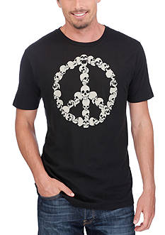 Lucky Brand Peace Skull Graphic Tee