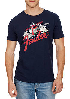 Lucky Brand Short Sleeve Fender Surf Graphic Tee