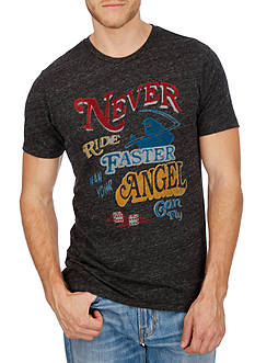 Lucky Brand Short Sleeve Faster Angel Graphic Tee
