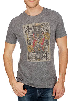 Lucky Brand Short Sleeve Bear Card Graphic Tee