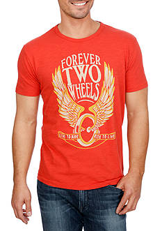 Lucky Brand Short Sleeve Forever Two Wheels Graphic Tee