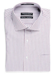 Forsyth of Canada Tailored Fit Non-Iron Stripe Dress Shirt