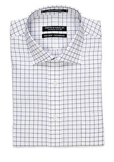Forsyth of Canada Tailored Fit Non-Iron Windowpane Check Dress Shirt