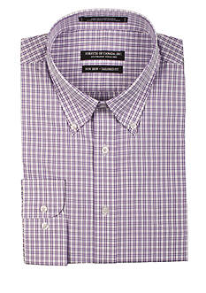 Forsyth of Canada Tailored-Fit Grid Checker Board Long Sleeve Dress Shirt