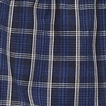 Mens Boxers: Plaid 2 - Blue Nautica Novelty Print Woven Boxers