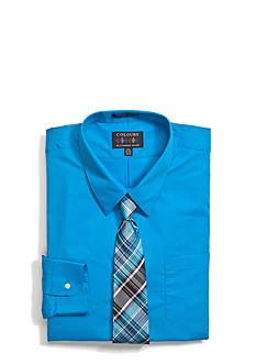 Alexander Julian Big & Tall Boxed Dress Shirt and Tie Set