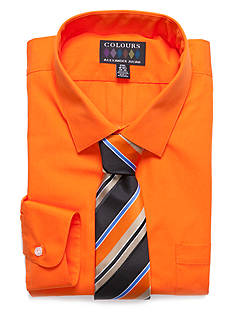 Alexander Julian Big & Tall Boxed Shirt and Tie Set