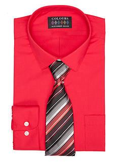 Alexander Julian Regular-Fit Dress Shirt and Tie Boxed Set