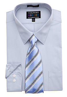 Alexander Julian Classic Fit Boxed Dress Shirt & Tie Set