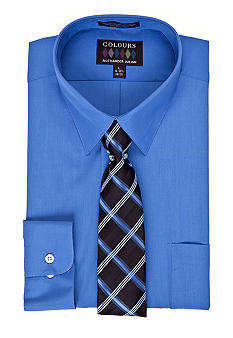 Alexander Julian Fitted Boxed Dress Shirt & Tie Set