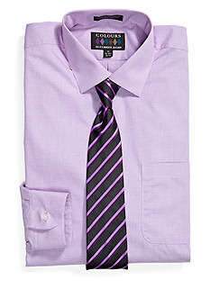 Alexander Julian Boxed Dress Shirt and Tie Set