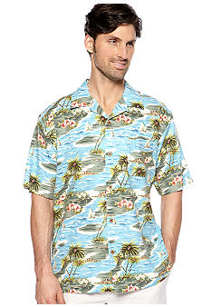 Ocean & Coast Blue Hawaiian Woven Shirt