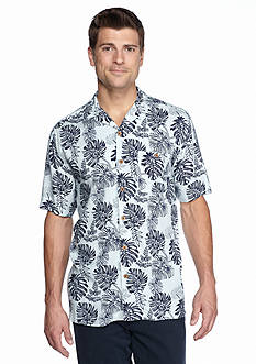 Ocean & Coast Short Sleeve Two Tone Tropics Woven Shirt