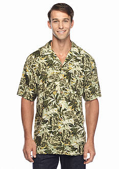 Ocean & Coast Short Sleeve Tahiti Treasures Woven Camp Shirt