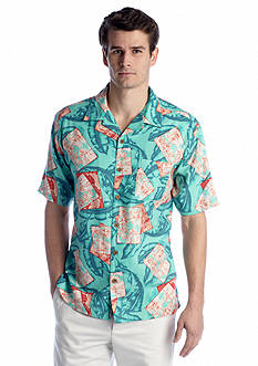 Ocean & Coast™ Aqua Fish Tropical Camp Shirt