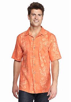 Ocean & Coast Vertical Hibiscus Woven Shirt