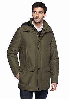 Perry Ellis Portfolio Big & Tall Microfiber Parka Coat
