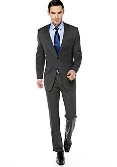 DKNY Trim Fit Gunmetal Twill Suit