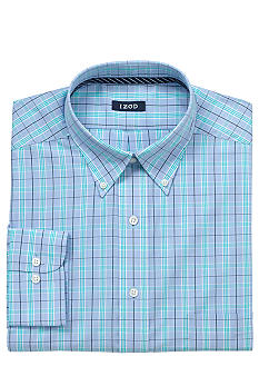 Izod Wrinkle-Free Check Dress Shirt
