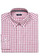 Izod Wrinkle Free Twill Plaid Dress Shirt