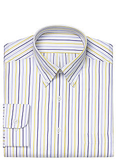 Izod Wrinkle Free Striped Dress Shirt
