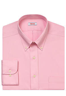 Izod Wrinkle Free Twill Button Down Dress Shirt