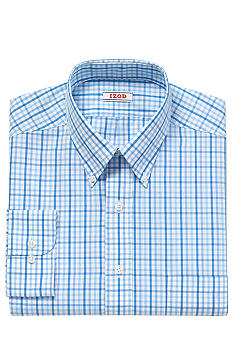 Izod 125th Anniversary Wrinkle Free Checked Dress Shirt