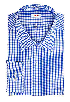 Izod Big & Tall Wrinkle Free Gingham Dress Shirt