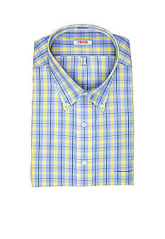 Izod Big & Tall Wrinkle Free Check Dress Shirt