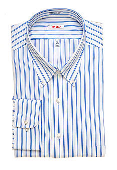 Izod Big & Tall Wrinkle Free Stripe Dress Shirt