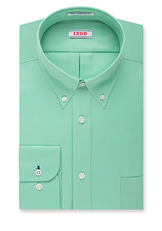 IZOD Regular-Fit Quick Dry Twill Solid Dress Shirt