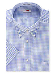 IZOD Wrinkle-Free Short Sleeve Dress Shirt