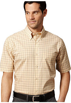 Van Heusen Non-Iron Plaid Check Broadcloth Shirt